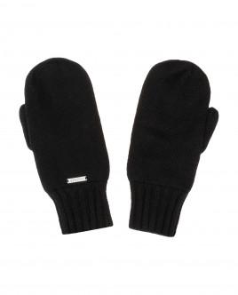 Black knitted mittens Gulliver