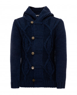 Blue hooded cardigan Gulliver