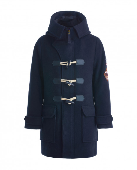 Синее пальто-дафлкот
