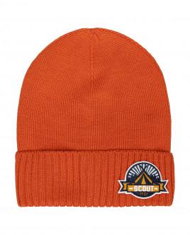 Оранжевая вязаная шапка Gulliver