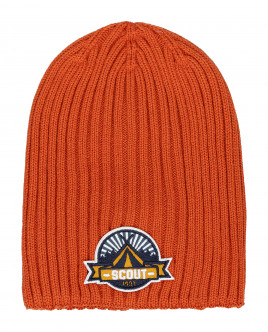 Orange knitted hat Gulliver