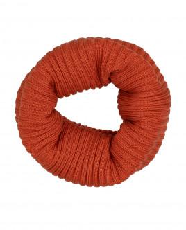 Оранжевый вязаный воротник