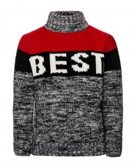 Серо-красный свитер Gulliver