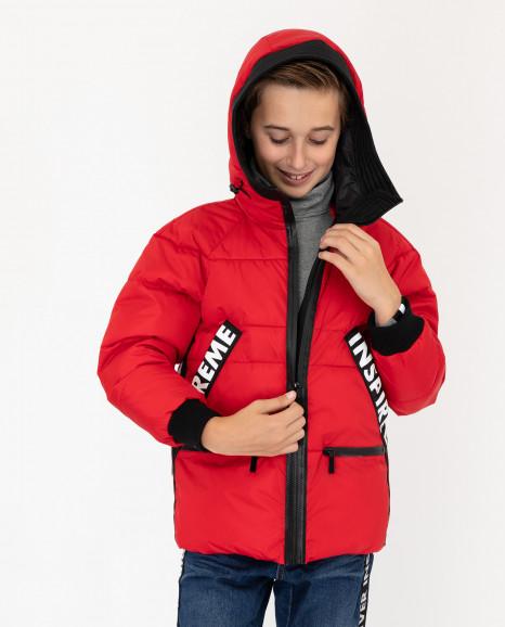 Красная демисезонная куртка