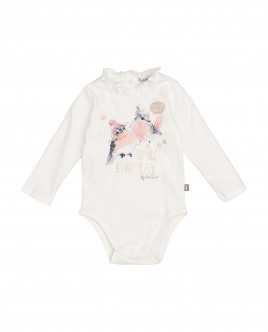White long sleeve bodysuit Gulliver