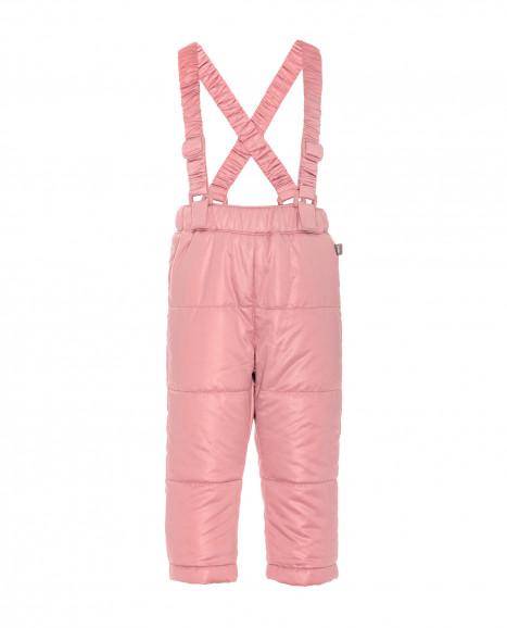 Розовые демисезонные утепленные брюки
