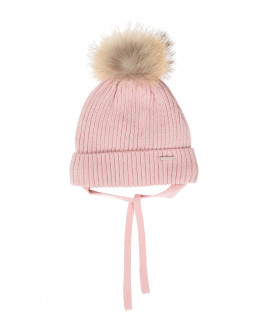 Pink knitted lined hat Gulliver