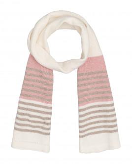 Вязаный шарф молочного цвета Gulliver