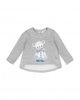 Grey lurex sweatshirt Gulliver