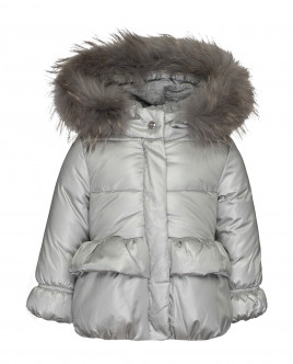 Silver-coloured winter jacket Gulliver