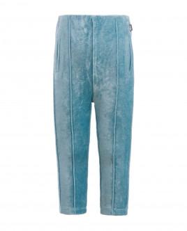Бирюзовые велюровые брюки Gulliver