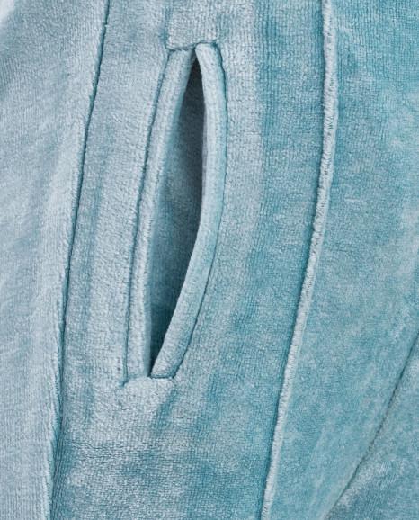 Бирюзовые велюровые брюки