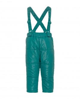 Бирюзовые утепленные демисезонные брюки Gulliver