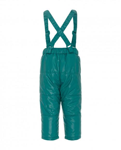 Бирюзовые утепленные демисезонные брюки
