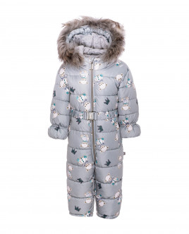 Grey ornate snowsuit Gulliver