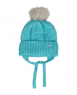 Turquoise knitted lined hat Gulliver
