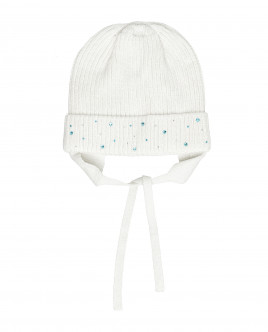 White knitted lined hat Gulliver