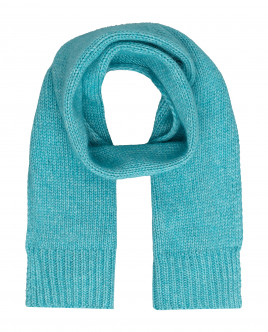 Turquoise knitted scarf Gulliver