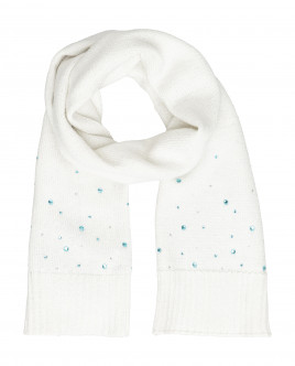 White knitted scarf Gulliver