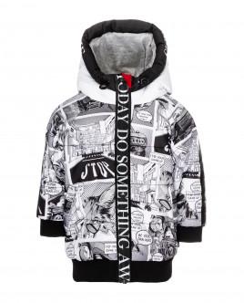 Демисезонная куртка с принтом Gulliver