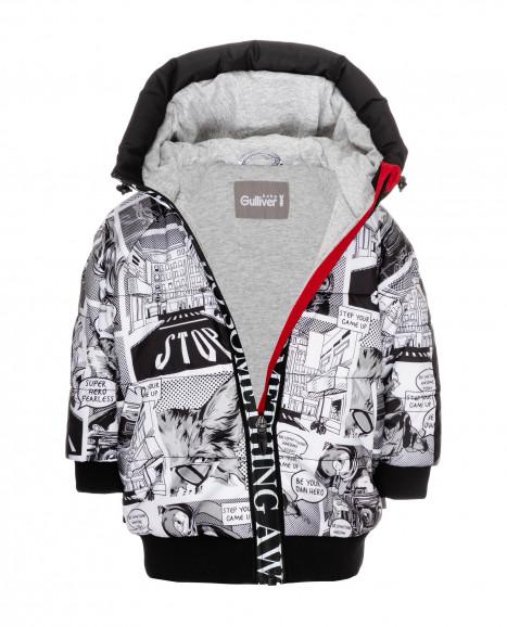 Демисезонная куртка с принтом