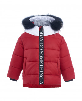 Red quilted winter jacket Gulliver