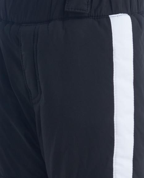 Черные утепленные демисезонные брюки