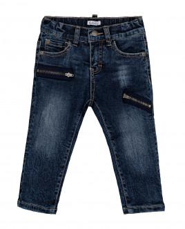Синие утепленные джинсы Gulliver