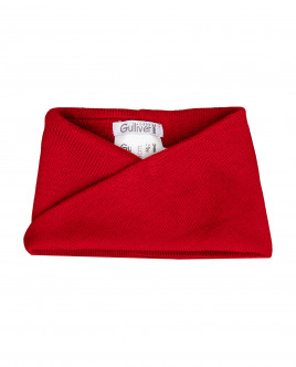 Red knitted collar Gulliver