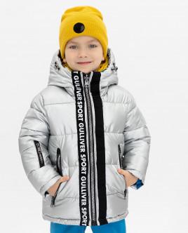 Купить 219FBC4103, Двухсторонняя куртка, Gulliver Wear, серебряный, 128, Мужской