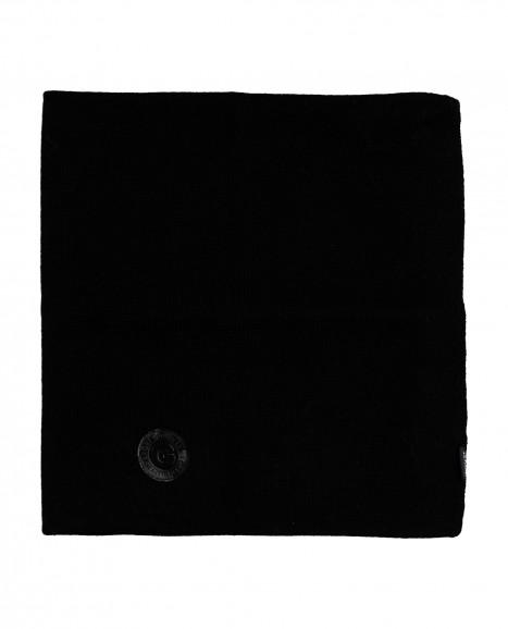 Черный вязаный воротник