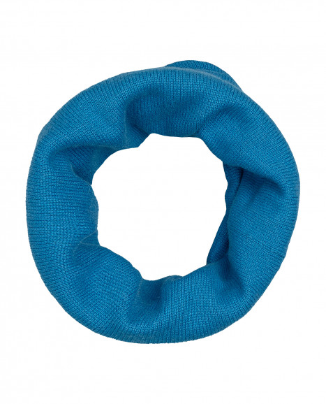 Синий вязаный воротник