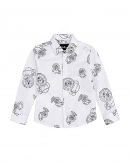 White ornate shirt Gulliver