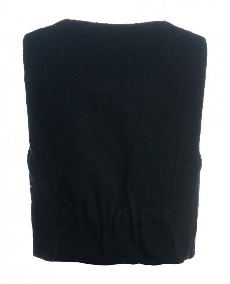 Черный жилет в горошек
