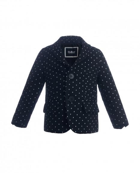 Черный пиджак в горошек