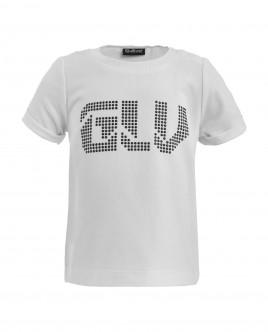 Нарядная футболка с декором