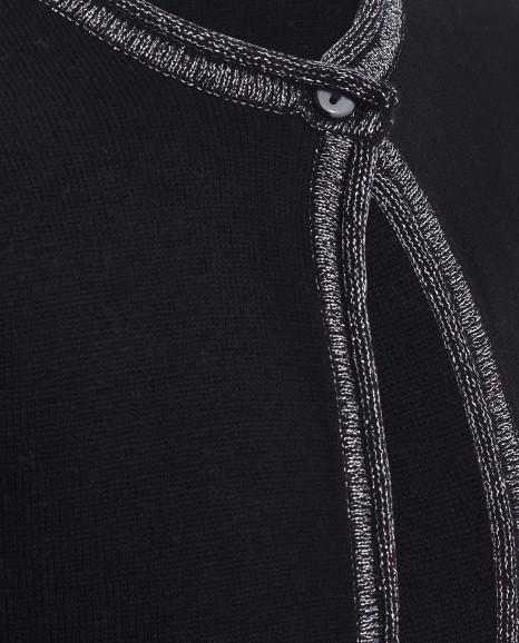 Черный нарядный кардиган