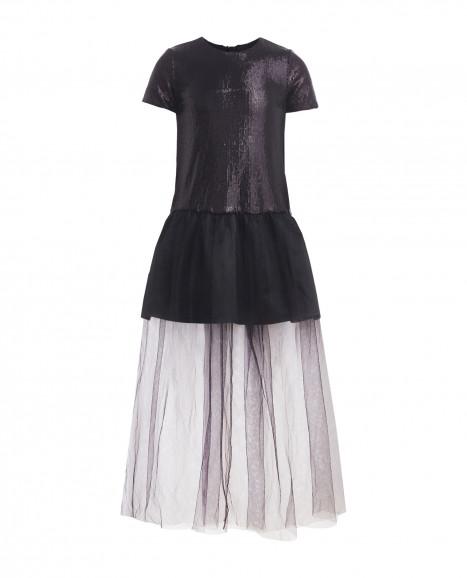 Черное нарядное платье
