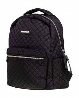 Black quilted backpack Gulliver