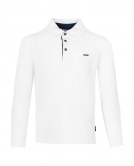 White long sleeve polo shirt Gulliver