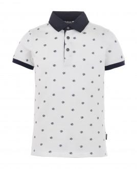 White ornate polo shirt Gulliver