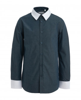Gray and blue dotted shirt Gulliver