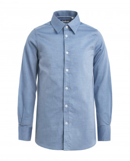 Dark blue textured shirt Gulliver