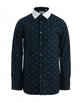 Blue shirt with letter print Gulliver