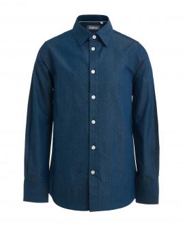 Blue ornate shirt Gulliver