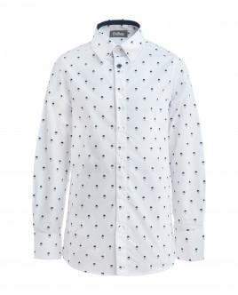 White ornate shirt Gulliver