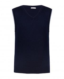 Blue knitted vest Gulliver