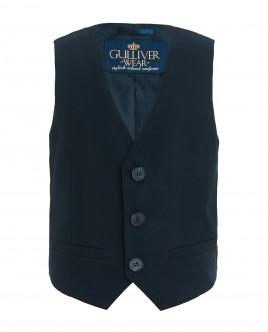 Синий классический жилет Gulliver