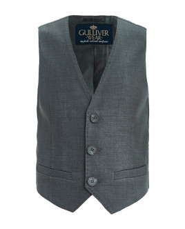 Grey classic vest Gulliver