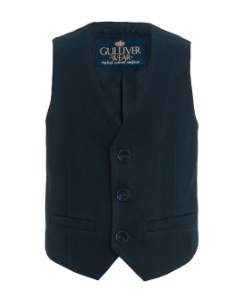 Blue tweed vest Gulliver